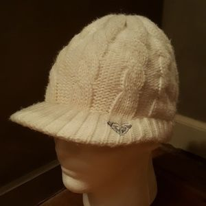 Roxy White Knit Hat